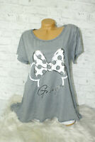 Italy T-Shirt Mickey Mouse Gr.36 38 40 42 Shirt Oversized Long Puder grau
