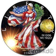 2015 SILVER EAGLE SPACE IO MOON 1 Oz SILVER COLOR MINTAGE 100 PCS WITH COA