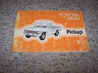 1981 Toyota Pickup Truck Factory Original Owners Owner's User Manual Book