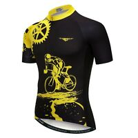 Rider Men Cycling Jersey Bike Short Sleeve Shirts Bicycle Clothing Top S-3XL