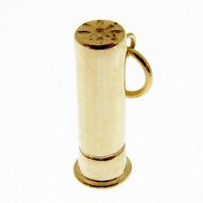 Colgante de oro 12 Calibre Cartucho De Oro 9 CT Cartucho de Escopeta. sello Colgante