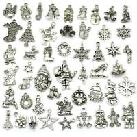 Tibetan Silver XMAS Christmas Theme Charms Pendant Craft Jewellery Gift ML