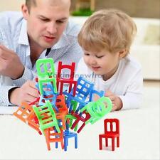 Hot équilibre chaises jeu chaise empilable équilibre puzzle enfants jouet éducatif 18Pcs