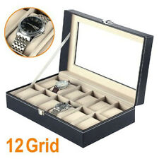 Faux Leather Uk Seller 12 Watch Display Box Case