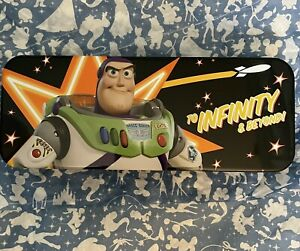💚New Disney's Pixar Toy Story Buzz Tin Tool Pencil Case BAck To School💙