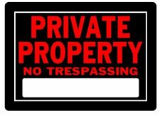 Hillman Private Property Sign No Trespassing Weather Resistant Commercial Home