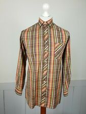 Vintage 60S/70s Shirt Long Sleeve In Multi Check Cotton Mix  *S* TO97