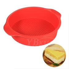 Round Silicone Cake Mold Pan Dessert Pizza Pastry Baking Tray Mould Adorn ES