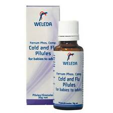 WELEDA Cold & Flu Pilules Granules 30g Homeopathic 4 Babies Children & Adults
