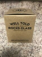 """Well Told Uncommon """"The Bourbon Trail"""" Etched Map Rocks Glass 11 oz  Made in USA"""