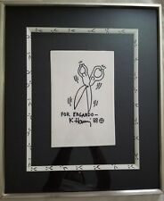 KEITH HARING ORIGINAL HAND DRAWN AT MR. CHOW'S IN NEW YORK CITY (1988).