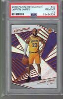 2018-19 Panini Revolution Lebron James PSA 10 GEM MINT 1st Card Lakers Uniform