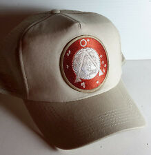 Stargate Sg-1 Tan Earth Icon Logo Tan Baseball/Trucker Cap/Hat- on Tan Cap