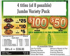 4 -240ct 1W JUMBO NUGGETS VARIETY seal card Bingo Pull Tab Tip Board  (1-$100)