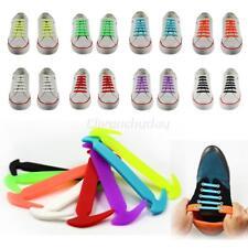12x Facile Non Cravate Chaussure Lacets Élastiques Silicone Basket Adulte Enfant