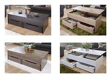 Ultimate 2 Drawer Lift Up Storage Coffee Table - Espresso Oak Walnut White