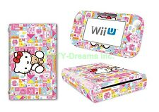 Sanrio Hello Kitty Vinyl Skin Sticker Decal Protector for Wii U