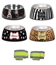 Loving Pets Milano Dog food Bowl - 4 designs - 3 sizes  - puppy feeding bowls -