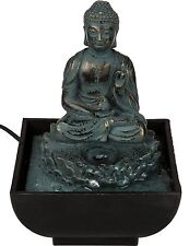 Out Of The Blue Tischbrunnen Sitting Buddha Polyresin mehrfarbig 17 X 14 Cm
