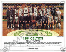 1984 BOSTON CELTICS NBA WORLD CHAMPIONS TEAM GLOSSY 8X10 PHOTO HOF