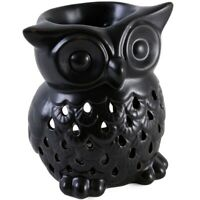 Black Owl Wax Warmer/Burner & pack of 10 Handpoured Scented Melts