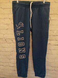 DETROIT LIONS Womens NFL 2nd Collection CROP Sweatpants / Joggers Medium - NEW