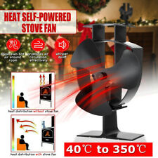 3 Blades Wood Heater Eco Fan Stove Fireplace Fire Heat Powered Circulating