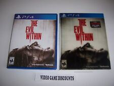 Original Box Case Replacement Sony PlayStation 4 PS4 THE EVIL WITHIN 3D Sleeve
