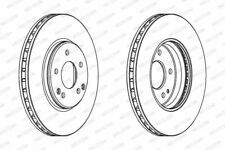 Ferodo DDF1136C Brake Disc Set Vented Coated Front Axle Replaces 05098063AA