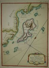 São Sebastião e Ilhabela, Old map Brazil Brasil Brasilia.1764
