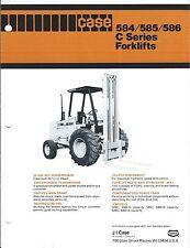 Fork Lift Truck Brochure - Case - 584 585 586 C series (Lt275)