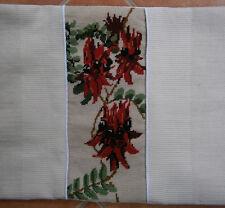 Australia Sturt's Desert Pea Wool Needlepoint Tapestry Pillow Case Cushion Cover