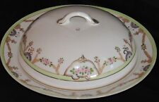 Vintage Hand Painted Nippon China Pancake Warmer Crepe Dish