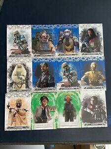 2018 Topps Star Wars Masterwork 9-card STAMP lot /200