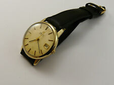 VINTAGE 1978 OMEGA SOLID GOLD cal 1012 AUTOMATIC GENTS WRISTWATCH GC