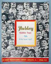 1955 Hubley Kiddie Toy Store Retail Catalog Metal & Plastic Trucks Cars Racing