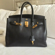 HERMES birkin Togo Leather 30 Handbag Tote Bag orange Gold Hardware