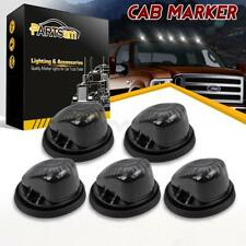 5x1313 Cab Roof Running Light Marker Smoke Cover+5xBase for 73-87 Chevy Suburban