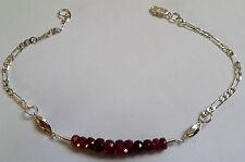Handmade Ruby Beaded Fine Bracelets