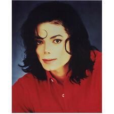 Michael Jackson King of Pop Head Shot Wearing Red 8 x 10 Inch Photo