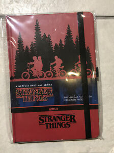 STRANGER THINGS - A5 Premium Notebook - The Upside Down Red Hardback