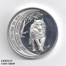Andorra 10 Diners 1995 Wolf Silber PP - proof silver Chamois