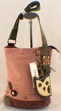 Chala Purse Handbag Canvas Crossbody with Key Chain Tote Bag Hoot Owl