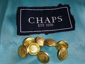 CHAPS Logo Ralph Lauren Gold Small Replacement Buttons Blazer Jacket