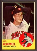 1963 Topps Baseball #317 Sam McDowell Cleveland Indians - 4th Series