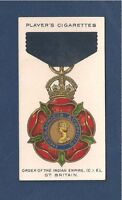 The MOST EMINENT ORDER of the INDIAN EMPIRE CIE GB 1927 original print card