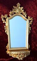 Espejo de Pared Barroco con consola Oro + emplazamiento ANTIGUO 78x50 Ovalado