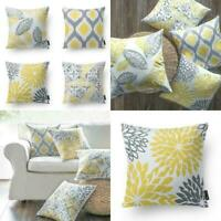 Phantoscope Set Of 4 New Living Series Yellow And Grey Decorative Throw Pillow C