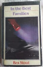 """LARGE PRINT """"In The Best Families"""" REX STOUT Nero Wolfe Mystery 9780745114521 VG"""