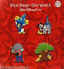 Disney Pin Booster Pack: WDW - Four Parks One World (4 Pins) (New/Sld)